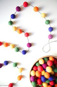 rainbow felt garland craft