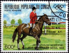 Stamp: Equestrian (Congo, Republic (Brazzaville)) (Olympic Games 1988 - Seoul) Mi:CG 1129,Yt:CG PA384
