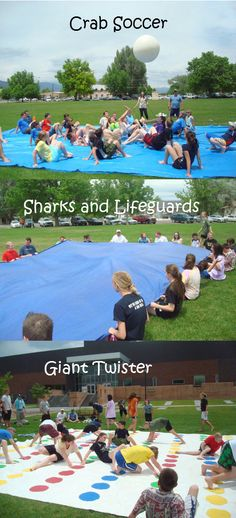 Camp game and activity ideas.  All kinds of fun