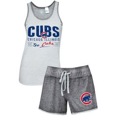 a4717abf Chicago Cubs Women's Deed Tank & Short Set by Concepts Sport # ChicagoCubs #Cubs