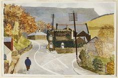 'Old Toll Bar House, Ashopton' by Kenneth Rowntree for the 'Recording Britain' project, 1940 (watercolour) Elephant And Castle, English Artists, Royal College Of Art, Christmas Drawing, Modern Art, Past, Watercolor, Illustration, British