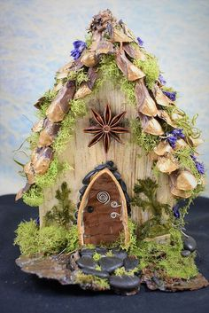 Orlagh's Golden Pine Cone Fairy House