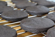 chocolate wafer cookies for cheesecake crust or homemade Thin Mints Chocolate Wafer Cookies, Chocolate Wafers, Mint Chocolate, Holiday Desserts, Fun Desserts, Dessert Recipes, Girl Scout Cookies Recipes, Cookie Recipes, Yummy Treats