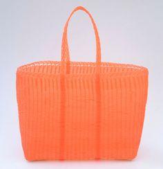 Woven Guatemalan Orange Plastic Market by HandcraftGuatemala
