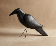 Image of Folk Art, Painted Wooden Carved Bird BC-242