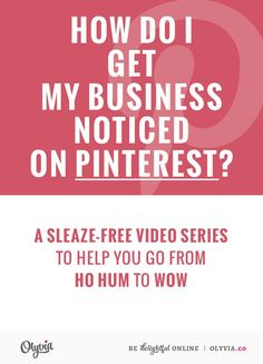A Guide To Getting Noticed ON Pinterest With The New Smart Feed + Promoted Pins (including VIDEO) A MUST READ FOR EVERY PINNER Thanks so much @OlyviaMedia !!!!!