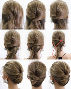 43 Most Popular Wedding Hairstyles To Look Adorable hair color trends long hairstyles ideas, wedding hairstyles, hair styles, wedding updos, medium wedding hairstyles Updo Hairstyles Tutorials, Wedding Hairstyles Tutorial, Up Hairstyles, Bridal Hair Tutorial, School Hairstyles, Hair Tutorials, Short Hair Updo Tutorial, Classic Hairstyles, Bridal Hairstyles