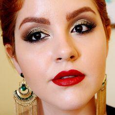 0 video tutorial maquiagem baile de formatura casamento glitter dourado classica daianne possoly 5