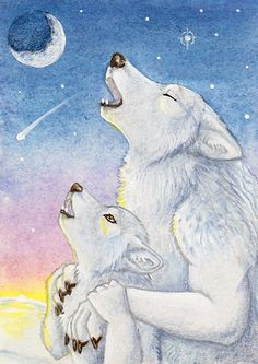 His First Winter Howl by Yote.deviantart.com on @DeviantArt