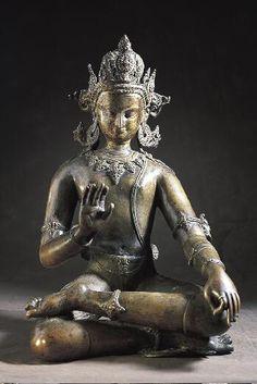 Bodhisattva Avalokiteshvara, c. Buddha Life, Buddha Buddhism, Tibetan Buddhism, Buddhist Symbols, Buddhist Art, Nepal Art, Tibetan Art, Religious Icons, Religion