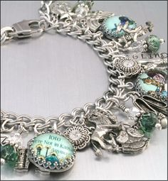 Wizard of Oz Charm Bracelet Silver Charm by BlackberryDesigns, $123.00