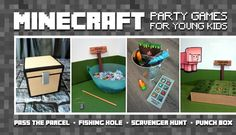 These Minecraft party games are perfect for young kids! Fun Minecraft-themed DIY party games ideas are perfect for kids 6 and under.