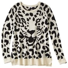 Leapard Graphic Sweater  @Karson Arnett guess who just bought this!