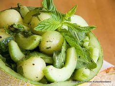 Es grünt so grün ... Melonen-Gurkensalat | Kleiner Kuriositätenladen