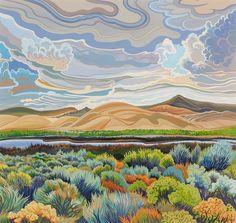 Phyllis Shafer Storm Over Dufurrena Ponds.