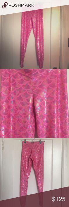Very Rare Blackmilk Pink Barbie Mermaid Leggings So hard to let these go! EUC, only worn 1x! Blackmilk Pants Leggings