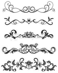 Fancy Scroll Designs Scroll Design Royalty Free