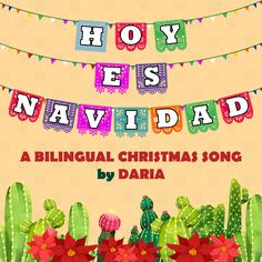 Here's a fun bilingual holiday song (Spanish/English) that's perfect for young learners or bilingual classrooms. It's sung to the tune of Jingle Bells so it's easy to learn and perfect for distance learning classrooms as well! The song is also a great way to start talking with students about different holidays and holiday traditions and how they are celebrated all over the world. Jingle Bell Crafts, Jingle Bells, Teaching Spanish, Teaching Kids, Holiday Song, Bilingual Classroom, Map Skills, Christmas Activities For Kids, Spanish English
