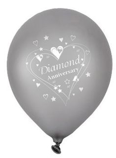5 X Diamond Wedding Anniversary Wedding Anniversary Balloons Free P&P . 5 X Diamond Wedding Anniversary Wedding Anniversary Balloons Free P&P home & Garden £ GB Diamond Wedding Anniversary Cake, Diamond Wedding Cakes, 60th Anniversary Parties, Anniversary Crafts, Girlfriend Anniversary Gifts, Anniversary Surprise, Anniversary Decorations, Anniversary Jewelry, Golden Anniversary
