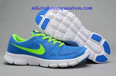 Blue and neon green
