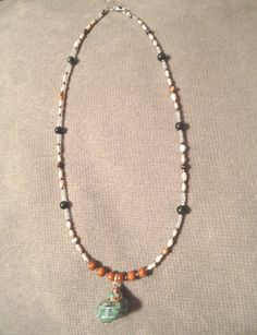 Handmade Beaded Necklace  Freshwater Pearl by LaurelMoonCreations, $14.99