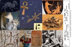 Ankh, Canis Major, Hermanubis (Vatican), Min God+Ishtar+Tas-Mikal, Anubis, Roman Stela ICXC-NIKA Cross, Anubis Tutankamon, City of Ur, Artemis & Actaeon's death (http://sirius-star.ro/)