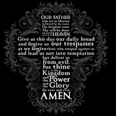 What does The Lord's Prayer really mean to you? Is The Lord's Prayer just something you learned as a child or just repeat the words at the end of a service? Bible Prayers, Bible Scriptures, Bible Quotes, Qoutes, Bible Teachings, Prayer Quotes, Christian Prayers, Christian Quotes, Gebets Tattoo
