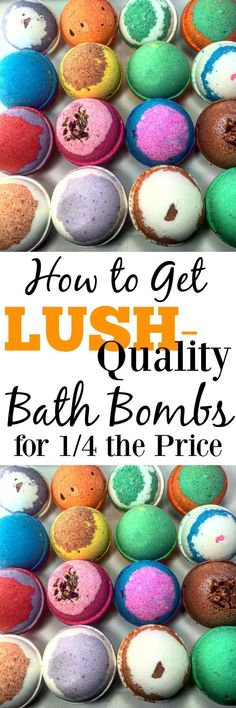 This is the best place to get bath bombs that are just as great as LUSH, but 1/4… #soapmakingbusinessetsy