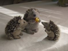 @ beany Hedgehog handmade stuffed animal.  All my pins are belong to you...  :D