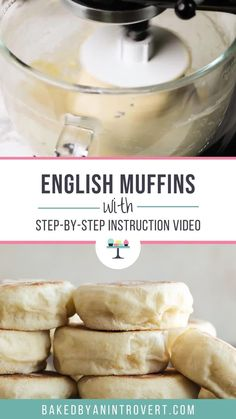 This English muffin recipe is simple and will give you soft, chewy muffins in no time. English Muffin Recipes, Homemade English Muffins, Homemade Muffins, English Muffin Breakfast, English Muffin Bread, Breakfast Muffins, Mini Muffins, Bread Baking, Love Food