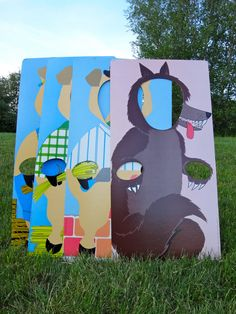 Awesome Instructo Vintage 3 Little Pigs  Big by BroGinoGiBroni, $75.00