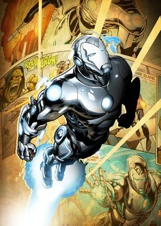 """Official Marvel New Age Characters Superior Iron Man artwork by artist """"MARVEL"""". Marvel Comic Character, Marvel Comic Books, Comic Books Art, Marvel Comics, Marvel Vs, Iron Man Photos, Superior Iron Man, Iron Man Art, Epic Characters"""