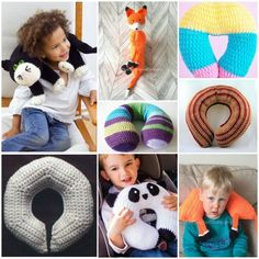 Kids love to travel with their favorite toys. Our cat net pillow is created to be carried on all the time during a car trip. It will give your child joy and Crochet Car, Crochet Pillow, Crochet For Kids, Free Crochet, Crochet Toys, Kids Travel Pillows, Kids Pillows, Crochet Neck Warmer, Neck Pillow Travel