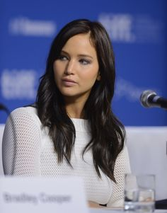 Jennifer Lawrence with brown hair