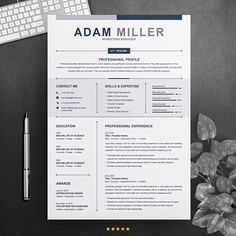 Clean Resume / CV Design by ResumeInventor on Cv Design Template, Modern Resume Template, Resume Template Free, Creative Resume Templates, Resume Ideas, Resume Tips, Resume Examples, My Resume, Manager Resume