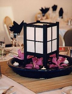 Reception centerpieces and other Asian Wedding Theme Favors and Decoration Ideas.                                                                                                                                                     More Anime Wedding, Japanese Party, Japanese Shower, Asian Wedding Themes, Asian Party Themes, Asian Inspired Wedding, Japanese Wedding Themes, Asian Party Decorations, Wedding Ideas