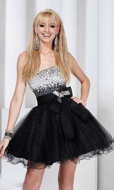 Short Strapless Glitter Tulle Hannah S Dress HS-27729 (Dress for Show Choir Final 2013)