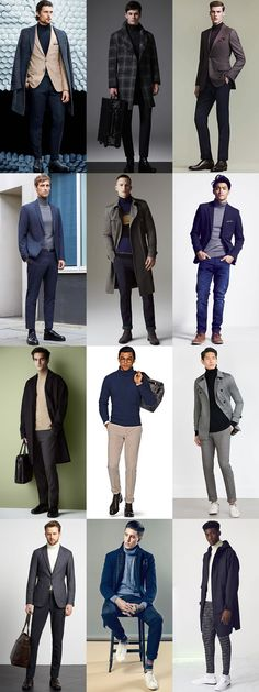 Turtleneck Outfit, Jumper Outfit, Smart Casual Men, Business Casual Outfits, Stylish Mens Fashion, Men Fashion, Mens Roll Neck, Street Style Boy, Mens Clothing Styles