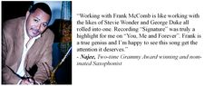 Najee on Frank McComb and his music.