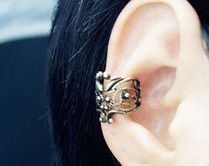 Vintage Hollow Flower  Ear Wrap Cuff Earrings