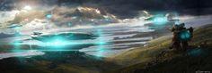 http://digital-art-gallery.com/oid/32/640x225_7141_Take_off_2d_landscape_robot_water_take_off_hills_landscape_spaceship_sci_fi_picture_image_digita.jpg