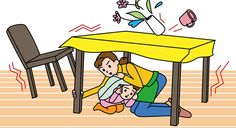 Rules to save your life. Learn first aid. Learn how to turn off the gas, water, and electricity. Make up a plan of where to meet your family after anearthquake.