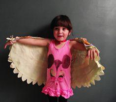 Spring inspiration DIY Bird Wings Costume