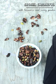 SPICED WALNUTS with Balsamic and Curry Powder