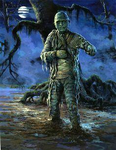 Lon Chaney, Jr. as The Mummy by R.L. Allen, 1969