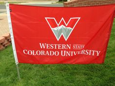 Western State Colorado University custom flags makes a great gift for your college student.