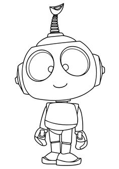 Doggy Robot Coloring Page Robots For Kids, Art For Kids, Robots Drawing, Monster Drawing, Robot Technology, Technology Gadgets, Arte Robot, Cute Coloring Pages, Digi Stamps