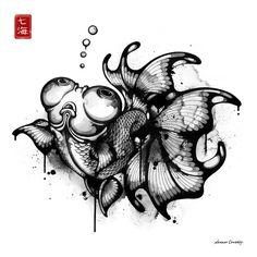 Черно-белые рисунки Нанами Каудрой (Nanami Cowdroy)