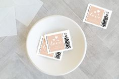Gilded Love Holiday Stamps by Oma N. Ramkhelawan at minted.com