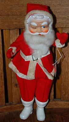 Vintage Jolly ole elf himself...Santa...winking , Photo via Ebay